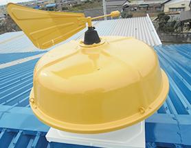 屋根上の風向計